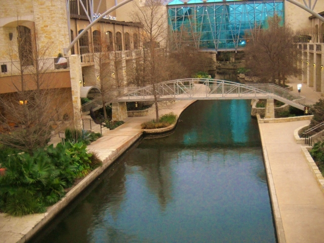 The beautiful San Antonio riverwalk