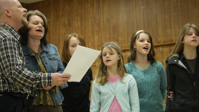 the Sweat family sang several beautiful a capella numbers