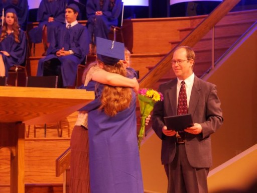 ...graduating their daughter Abigail.""