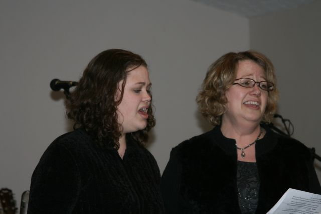 Deborah and Mrs. Rassmussen sang