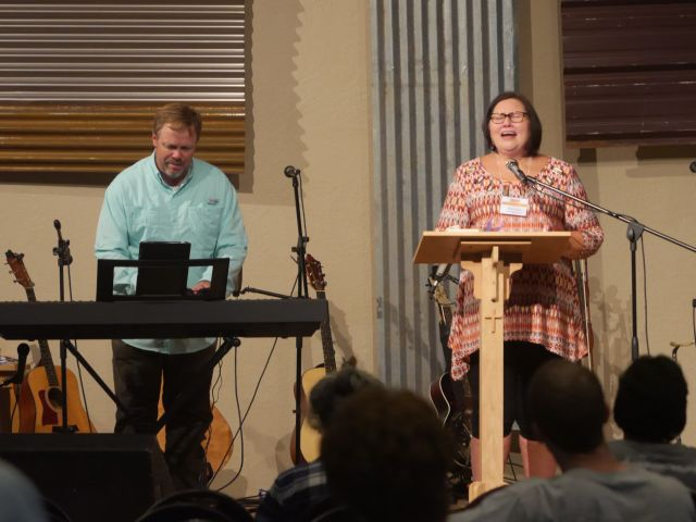 the Hendersons led the worship for each session