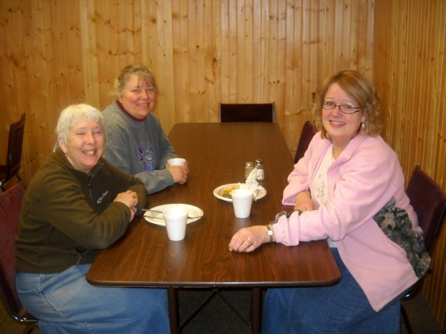 Mrs. Crisco, Mom, and Mrs. Rassmussen (as well as others) kept everyone well-fed
