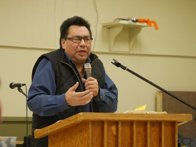 Gary Quequish shared the message each night