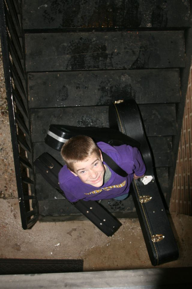 making the most of one trip...we carried everything up and down several flights of hotel stairs